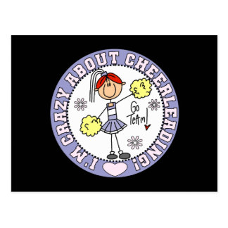 Crazy About Cheerleading T-shirts and Gifts Postcard