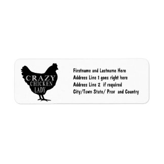 Crazy about Chickens Cute Hen Graphic Return Address Labels