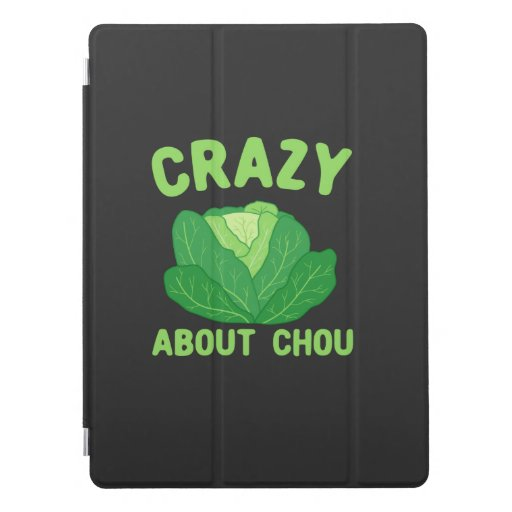 Crazy About Chou, Love Cabbage Pun T-Shirt iPad Pro Cover