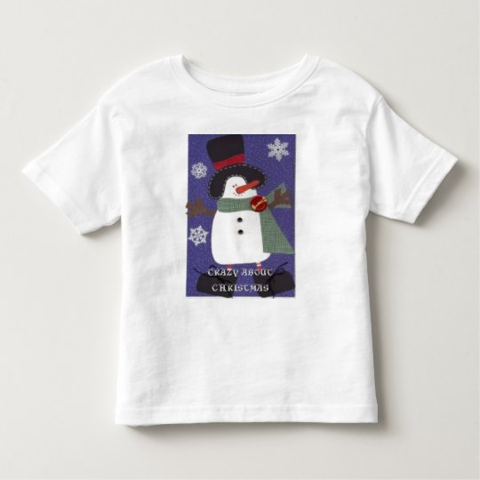 CRAZY ABOUT CHRISTMAS TODDLER T-SHIRT