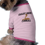 Crazy About Cobras Dog Clothing