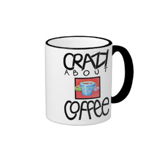 Crazy about Coffee black Mug