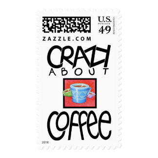 Crazy about Coffee black Stamp