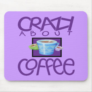 Crazy about Coffee purple Mousepad