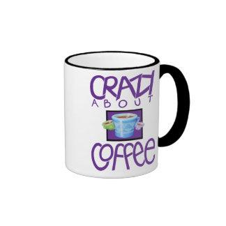 Crazy about Coffee purple Mug