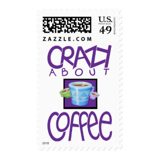 Crazy about Coffee purple Stamp