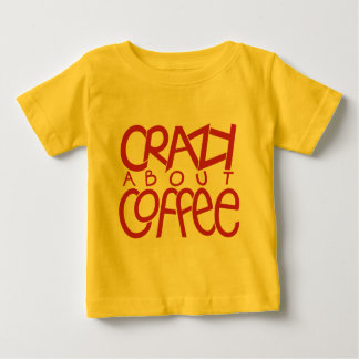Crazy about Coffee red Infant T-shirt