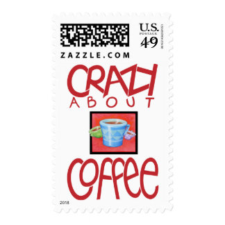 Crazy about Coffee red Stamp