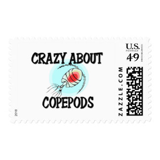 Crazy About Copepods Postage Stamps