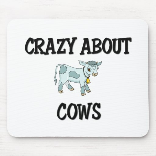 Crazy About Cows Mouse Pad