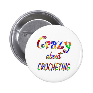 Crazy About Crocheting 2 Inch Round Button