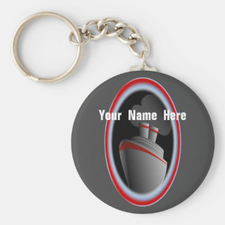 Crazy About Cruise Ships Personalized Keychain