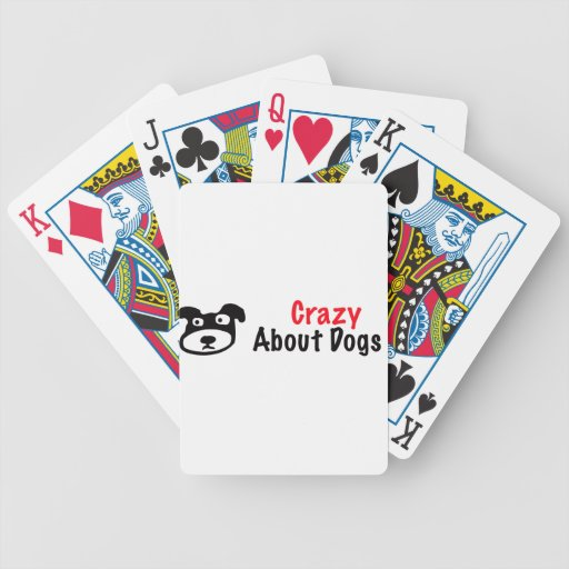 Crazy About Dogs Bicycle Playing Cards