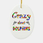 Crazy About Dolphins Christmas Ornaments