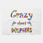 Crazy About Dolphins Hand Towels