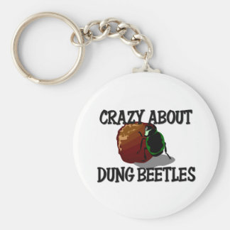 Crazy About Dung Beetles Keychain