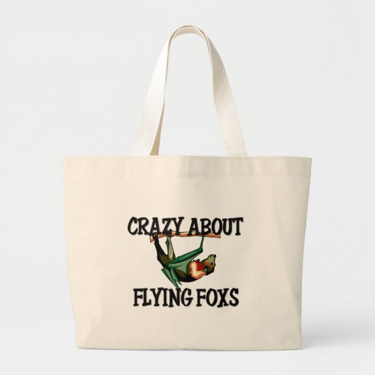 Crazy About Flying Foxs Large Tote Bag