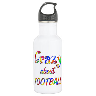 Crazy About Football Stainless Steel Water Bottle
