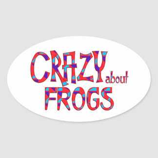 Crazy About Frogs Oval Sticker
