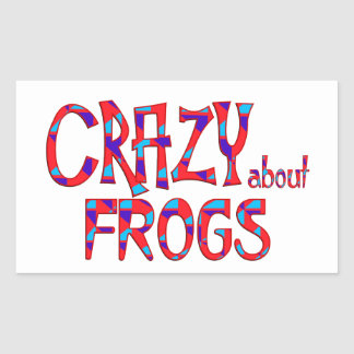 Crazy About Frogs Rectangular Sticker