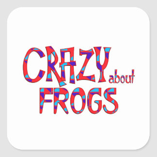 Crazy About Frogs Square Sticker