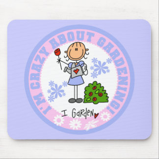 Crazy About Gardening Mousepad
