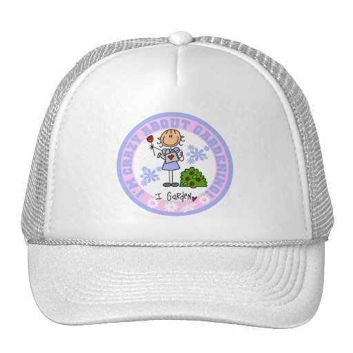 Crazy About Gardening T-shirts and Gifts Trucker Hats