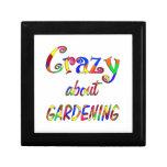 Crazy About Gardening Trinket Box