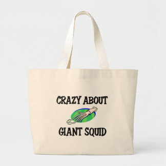 Crazy About Giant Squid Large Tote Bag