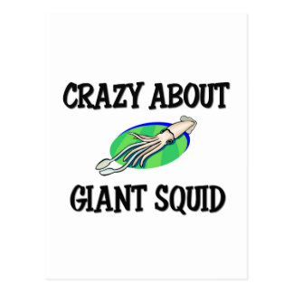 Crazy About Giant Squid Post Card