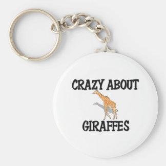 Crazy About Giraffes Keychain