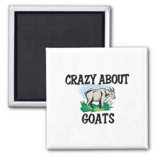 Crazy About Goats 2 Inch Square Magnet