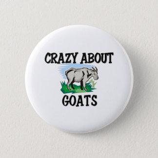 Crazy About Goats Button