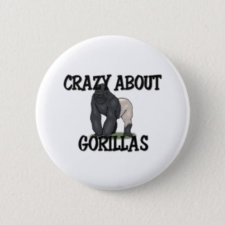 Crazy About Gorillas Button
