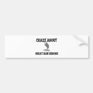 Crazy About Great Blue Herons Car Bumper Sticker