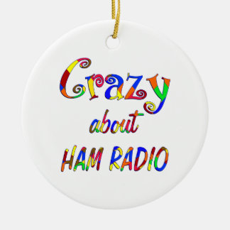 Crazy About Ham Radio Christmas Tree Ornaments
