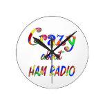 Crazy About Ham Radio Wallclocks