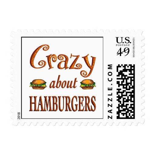 Crazy About Hamburgers Stamps