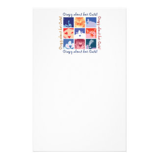 Crazy About Her Cats! Stationery