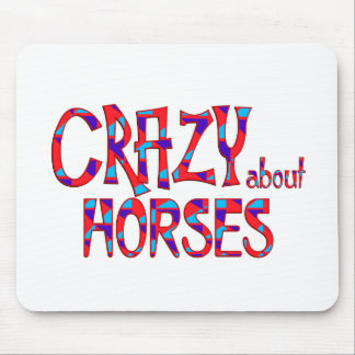 Crazy About Horses Mouse Pad