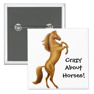 Crazy About Horses Pin