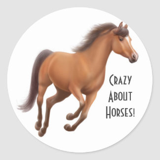 Crazy About Horses Sticker