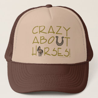 Crazy About Horses Trucker Hat
