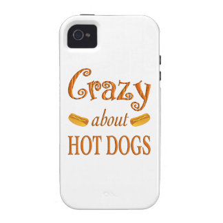 Crazy About Hot Dogs Case-Mate iPhone 4 Cases