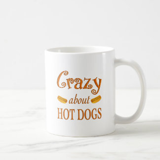Crazy About Hot Dogs Classic White Coffee Mug