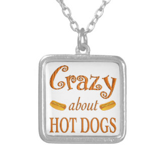Crazy About Hot Dogs Custom Necklace