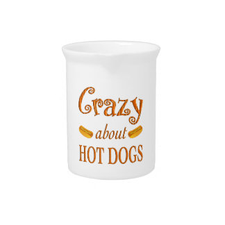 Crazy About Hot Dogs Drink Pitcher