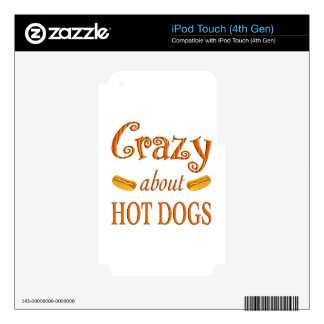 Crazy About Hot Dogs iPod Touch 4G Skins