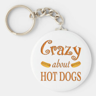 Crazy About Hot Dogs Key Chains