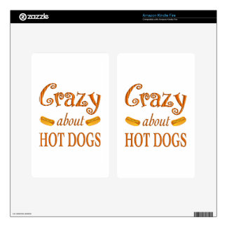 Crazy About Hot Dogs Kindle Fire Skin
